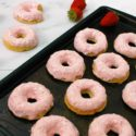 Greek Yogurt Doughnuts with Strawberry Glaze
