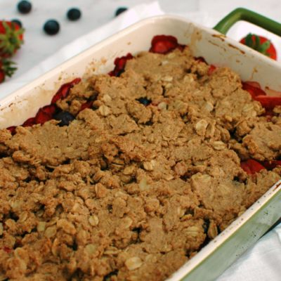 Berry Almond Butter Crisp