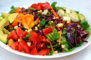rainbow chopped salad