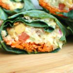 Collard Chickpea Salad Wraps