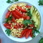 Corn and Tomato Salad with Chimichurri