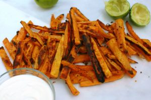 sweet potato garlic fries