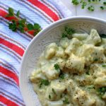 Herb Gnocchi with Garlic Cream Sauce