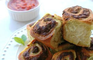 Pesto Mozzarella Rolls || For the Love of Gourmet