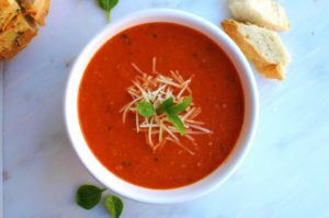 Roasted Tomato Basil Parmesan Soup || For the Love of Gourmet