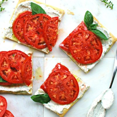 Tomato Tart with Herbed Ricotta