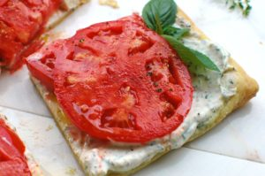 Tomato Tart with Herbed Ricotta || For The Love of Gourmet