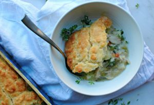 Biscuit Topped Chicken Pot Pie || For the Love of Gourmet