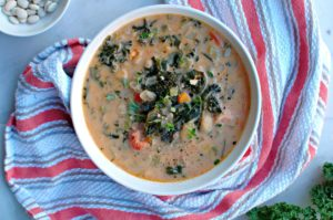 Kale and White Bean Soup || For the Love of Gourmet
