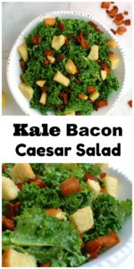 Kale Bacon Caesar Salad || For the Love of Gourmet