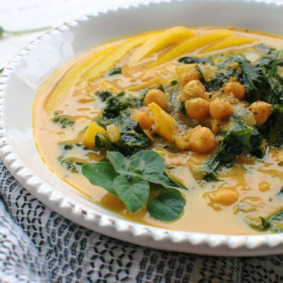 Pumpkin, Kale, and Chickpea Curry