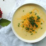 Roasted Garlic Potato Cheddar Bisque