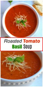 Roasted Tomato Basil Soup || For the Love of Gourmet