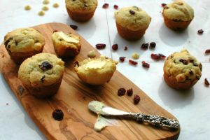 Cranberry White Chocolate Muffins || For the Love of Gourmet