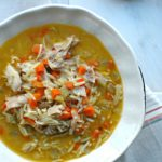 Thai Chicken and Orzo Soup